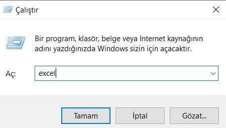 Microsoft Office Excel Açma / Kapatma