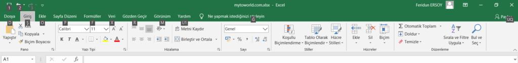 Microsoft Office Excel Klavye Kısayolları